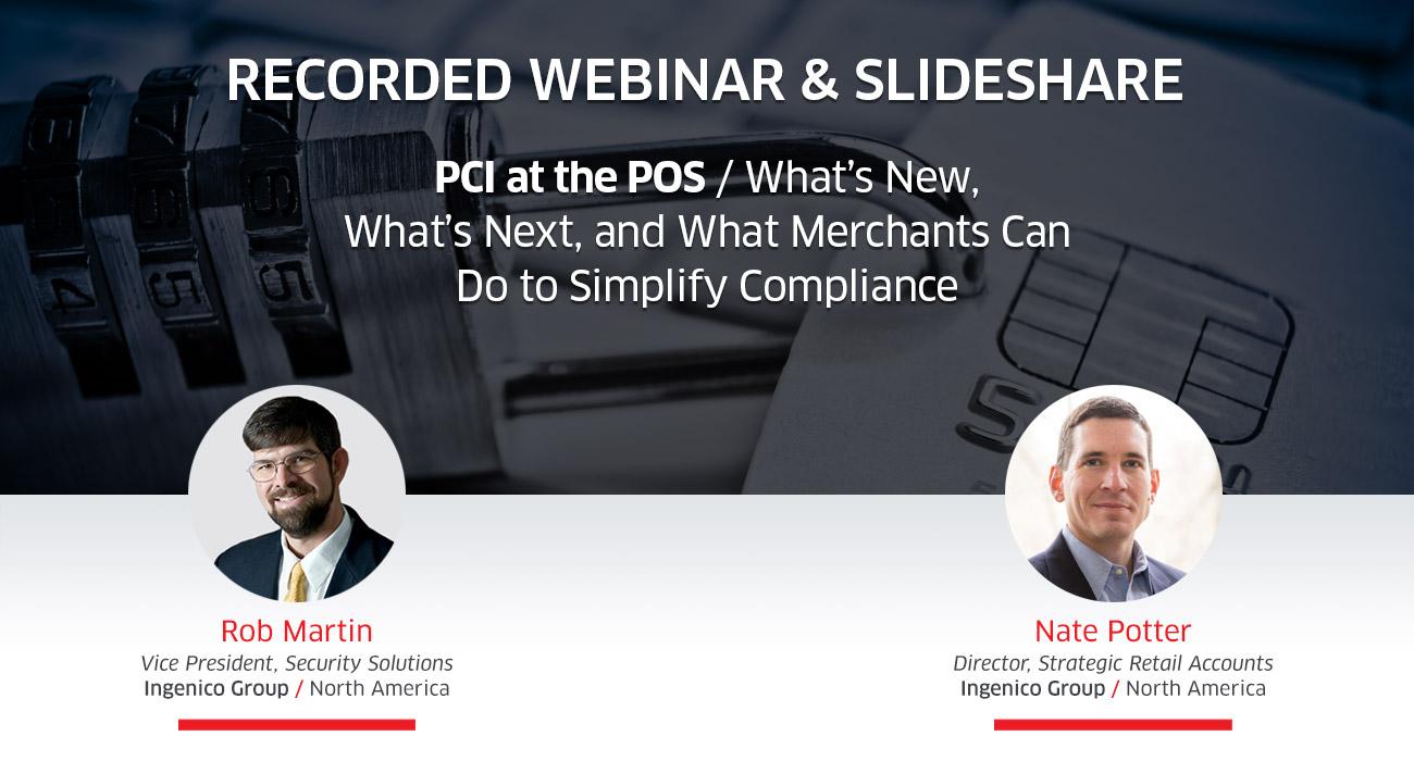 PCI at the POS Recorded Webinar