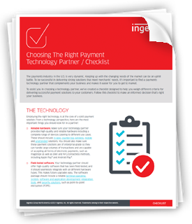 Checklist – Choosing the Right Payment Technology Partner